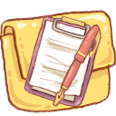 Hp folder notepad icon