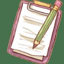 Hp notepad pencil icon