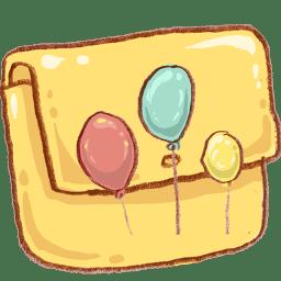 Hp folder balloons icon