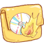 Hp folder burn icon