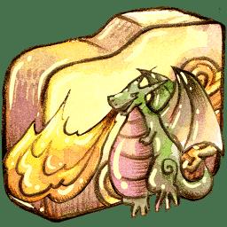 Folder burn 2 icon