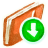 Red-Download icon