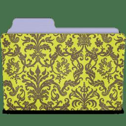 Folder damask chartreuse icon