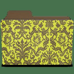 Folder damask chartreusey icon