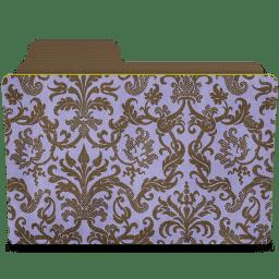 Folder damask hyacinthy icon