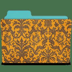 Folder damask tangerine icon
