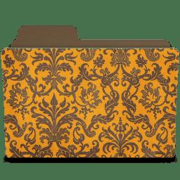 Folder damask tangeriny icon