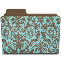 Folder damask turquoisey icon