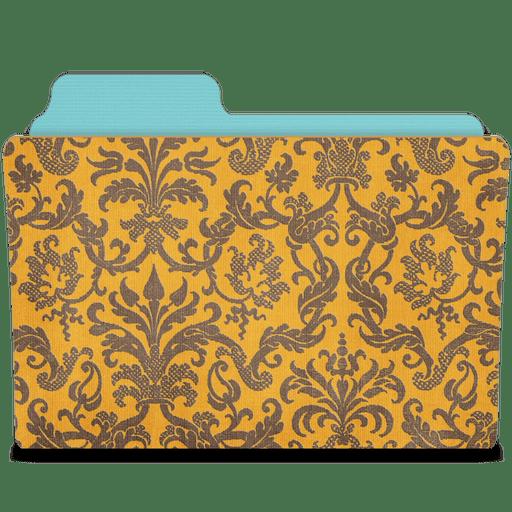 Folder-damask-tangerine icon