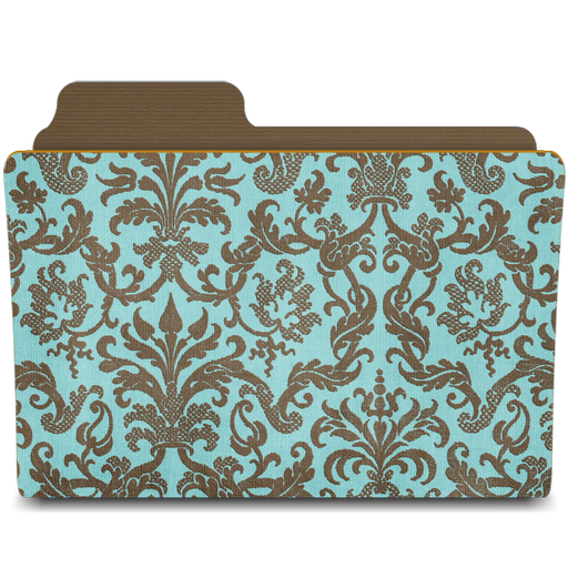 Folder-damask-turquoisey icon