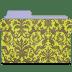 Folder-damask-chartreuse icon