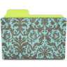 Folder-damask-turquoise icon
