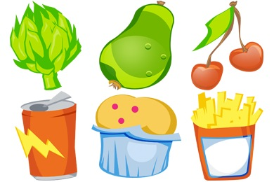 U R What U Eat Icons