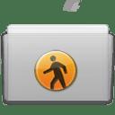 Folder Public Graphite icon
