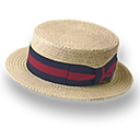 Hat straw derby icon