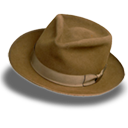 Hat suede fedora icon