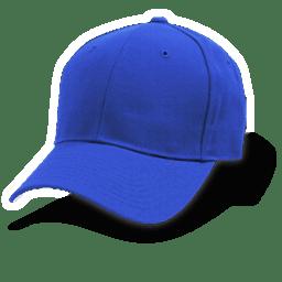 Hat baseball blue icon