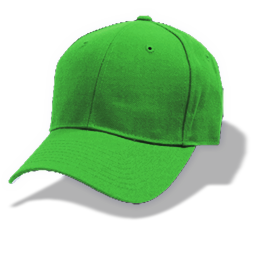 Hat baseball green icon