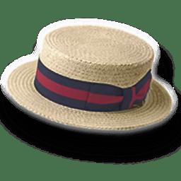 Hat straw derby icon