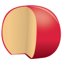 Cheese edam icon