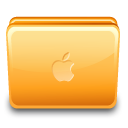 Folder apple close icon