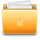 Folder apple with file icon