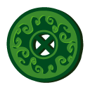 Disc magic grass icon