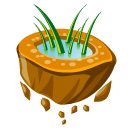 Flying grass icon