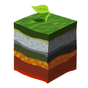 Layers grass icon