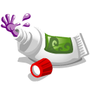 Toothpaste monster icon