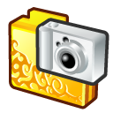Folder digital camera icon