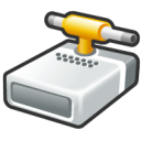 Hard driver shared connect icon