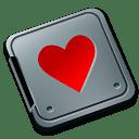 Folder burned love icon
