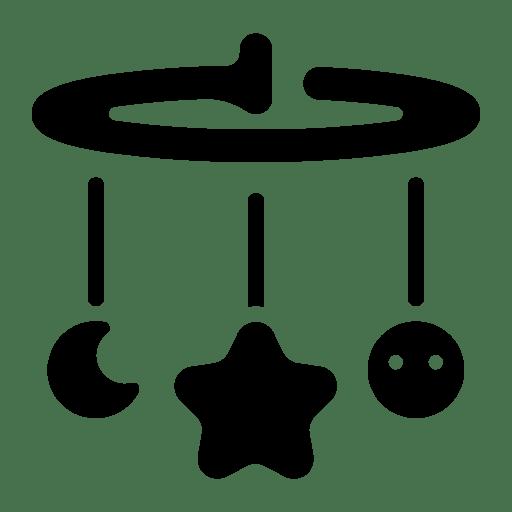 Crib decor icon
