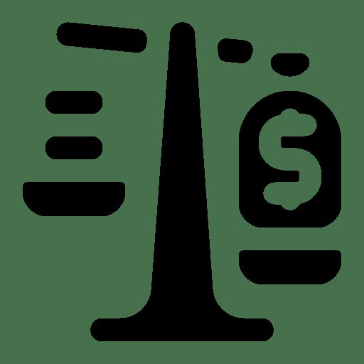 Dollar scale icon