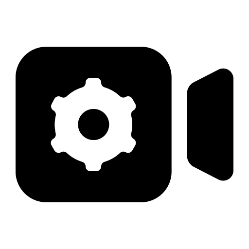 Video-camera-settings icon