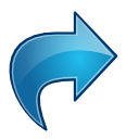 Actions blue arrow redo icon