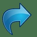 Actions blue arrow redo icon