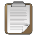 Actions clipboard icon