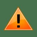 Status dialog warning icon