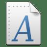 Mimetypes-font icon