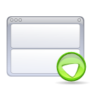 Actions view bottom icon