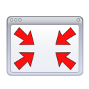 Actions windows nofullscreen icon