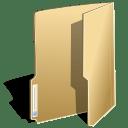 Filesystems folder open icon