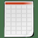 Mimetypes schedule icon