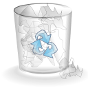 Trash white full icon