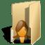 Folder user female icon
