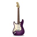 Guitar stratocaster pink icon