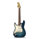 Guitar stratocaster turquoise icon