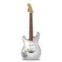 Guitar stratocaster white icon